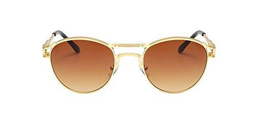 du de rond Tranche cercle style soleil métallique vintage Thé polarisées retro de Lennon lunettes inspirées en agFIF