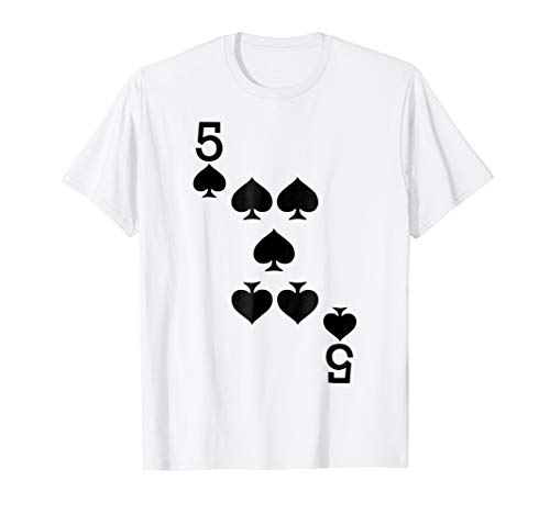 5 of Spades - Playing Card Halloween Costume -