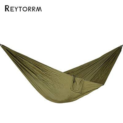 (Kmark Hiking Camping 270140cm Hammock Portable Nylon Safety Parachute Hamac Hanging Chair Swing Outdoor Double Person Leisure Hamak)