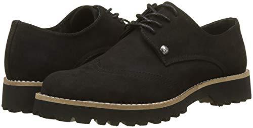 noir Zapatos De Derby Para P'tites Mujer Les Cordones Bombes 020 Negro Giovanna qABnOU