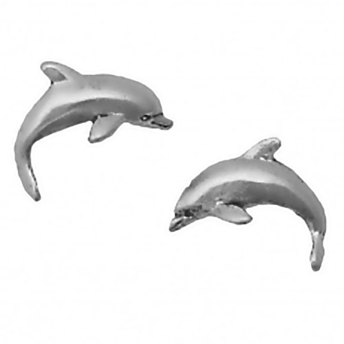 Corinna-Maria 925 Sterling Silver Dolphin Earrings Studs Tiny Mini Stainless Steel Posts and Backs