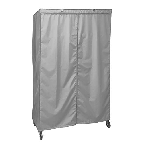 Formosa Covers Storage Shelving Unit Cover, fits Racks 48 Wx24 Dx72 H (Cover only Grey Color)