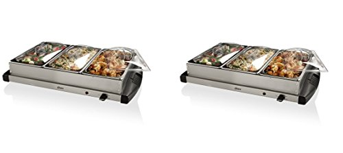 Oster CKSTBSTW00 Buffet Server, Stainless Steel (Pack of 2) by Oster