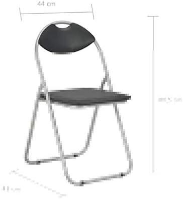 Tidyard Lot de 4 Chaises Pliantes de Salle à Manger en Similicuir Style Moderne Noir 44 x 43 x 80,5 cm