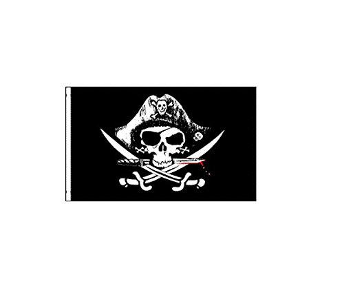 - 6 ft. Deadmen's Chest Bicycle Safety Flag with Rear Axle Mounting Bracket