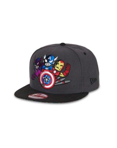 tokidoki Men New Era Marvel 9Fifty Snapback Hat (Mad & Furious Dark Graphite)