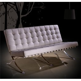 Sdm - Sofa barcelona, color blanco: Amazon.es: Hogar