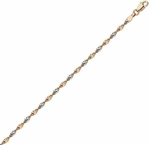 HOOP EARRINGS 10KT GOLD 1.5X20MM ROUND TUBE HOOP /& CUBIC ZIRCON ACCENT-20CUBIC ZIRCON