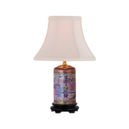 Asian Medallion (Rose Medallion Porcelain Vase Table Lamp 15