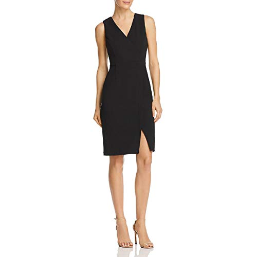 - Adrianna Papell Womens Crepe Business Sheath Dress Black 16