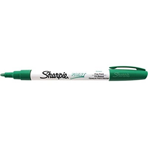 Sharpie Paint Marking Pens, Fine, Green (30 Pack)