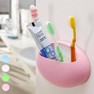 Cepillo de dientes pasta de dientes para afeitar de baño organizador con ventosa