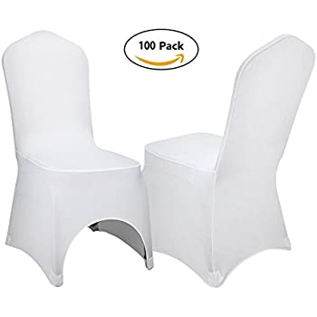 VEVOR Set Of 100pcs White Color Polyester Spandex Banquet Dining Chair  Covers For Wedding Or Party