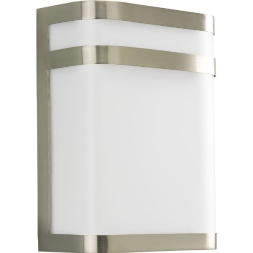 Progress Lighting P5801-09 1-Light Energy Efficient Compact Fluorescent Med Wall Lantern, Brushed Nickel Compact Fluorescent Wall