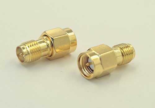 2pcs SMA Male Plug (Male Pin) to RP-SMA Female (Male Pin) Coupling nut Connector Adapter for FPV Drone/ 0-6G RF application Wi-Fi Antenna Connect amplifier Signal Booster/Repeaters/Radio/Extension Cable etc. to antenna