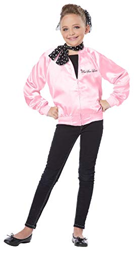 Grease The Pink Satin Ladies Child Costume