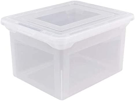 """Office Depot Brand Letter and Legal File Tote, 18""""L x 14 1/4""""W x 10 7/8""""H, Clear"""