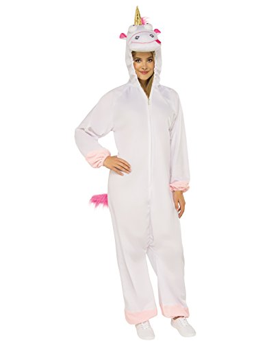 Adult Despicable Me 3 Fluffy Unicorn Jumpsuit Costume X-Large 16 White -
