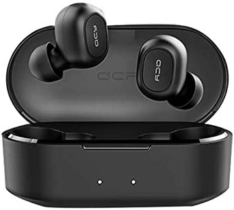 EzzySo QCY TWS Headphones Bluetooth 5.0 Bluetooth Wireless Headset Noise Cancelling mini Wireless Bluetooth Sports Earphone with Microphone and Charging box
