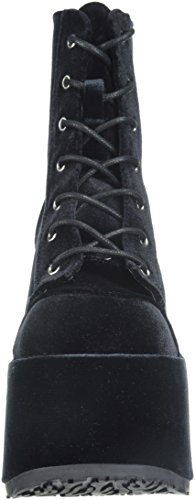 Demonia Black Velvet Women's 203 Boot Camel Ankle 88qUr