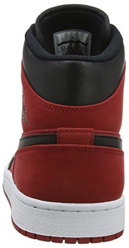 Nike Homme Hautes Jordan Red black 1 Air Mid gym white Baskets 610 Multicolore rpxrwq