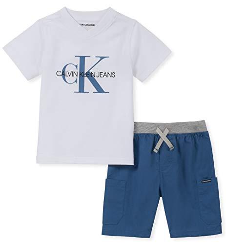 Calvin Klein Boys' Toddler 2 Pieces Shorts Set,