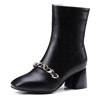 Frauen Casual 5 US3 Stiefeletten RTRY Kunstleder EU33 CN32 Karree Polka Schuhe Stiefel Amp; Booties Mode Stiefel Chunky Dot Winter Office Ferse Frühling 5 Für UK1 dRaqHR