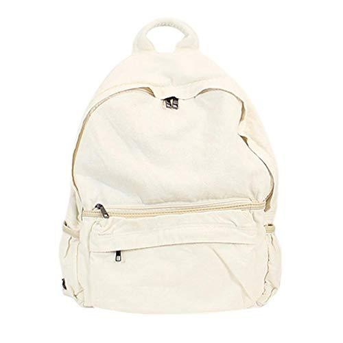 Alian Fashionable Backpack, Women Men Casual Backpack Canvas Denim College School Backpack Equipment Travel Bag Large Backpack by Alian (Image #1)