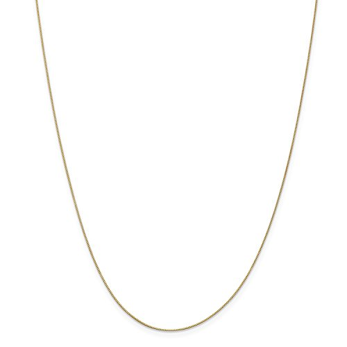 Roy Rose Jewelry Leslies 14K Yellow Gold Baby Box Chain Necklace ~ Length 18'' (14k Baby Box)