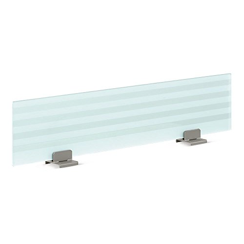 48'' Wide Frosted Glass Privacy Panel Frosted/Painted Tempered Glass Dimensions: 48''W x 5''D x 12''H Weight: 32 lbs. by NBF Signature Series