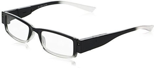 EVIDECO LED Reading Glasses with Light, LG Black Optic By Finess Power + 2.5 -  LGBLACK35