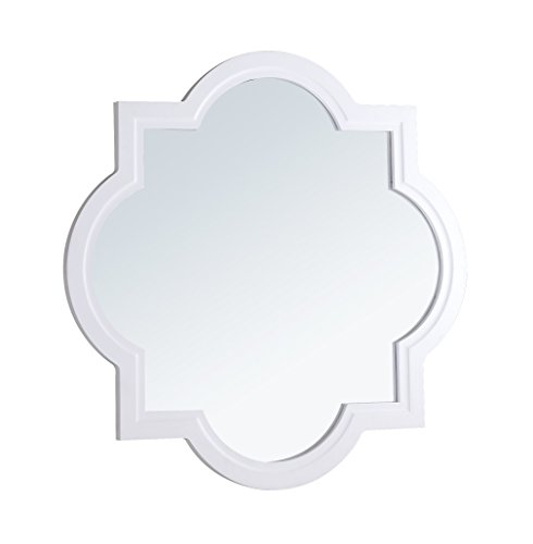 Crawford and Burke 1072.M Evelyn Mirror, White by Crawford & Burke