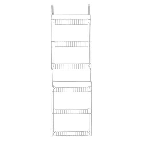 Amazon.com: Storage Dynamics 5 Foot Vinyl Covered Steel Over Door Storage  Basket Rack: Home U0026 Kitchen