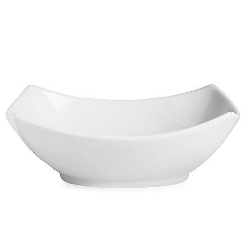 White Medium Rectangular 4-Point Bowl