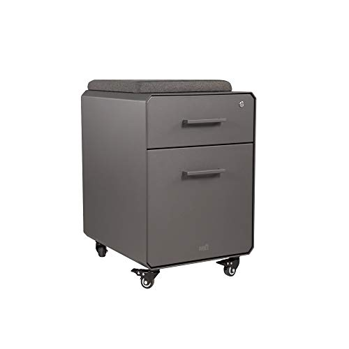 Cabinet Office Full Size - VARIDESK - Storage Seat - Rolling Locking Storage File Cabinet with Seat Top