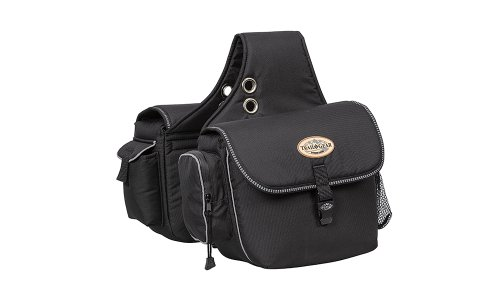 Saddlebags Horse Leather (Weaver Leather Trail Gear Saddle Bag)