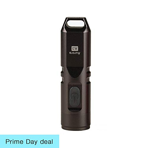 550 Lumens Super Bright Outdoor EDC Mini Keychain Rechargeable LED Flashlight,Hard Anodizing Aluminium Alloy Built-in Li-ion Battery 45 Minutes Fast Charging,Waterproof IPX-65 Small Torch,A3(Gun Grey)]()