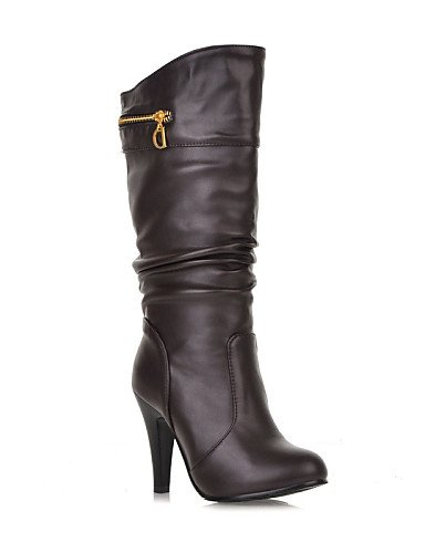 Redonda Semicuero Botas Zapatos eu37 brown us6 Marrón 5 Stiletto a la mujer uk4 5 Moda cn37 Botas Blanco XZZ eu37 cn37 Tacón us6 5 5 Vestido uk4 eu37 brown 5 7 Negro 5 Punta us6 7 white 5 5 de 7 uk4 npYF0Wq1O