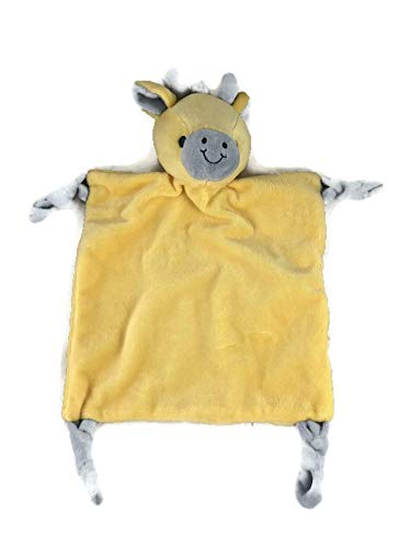 Super Soft and Snuggle Yellow Giraffe Security Blanket with