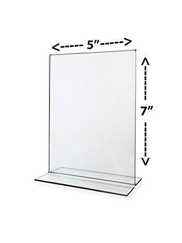 Marketing Holders Stand-Up Double-Sided Sign Holder, Plastic, 5 x 7, Clear- Total of ()
