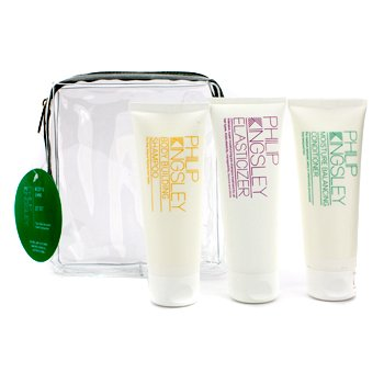 Philip Kingsley Body & Shine Jet Set: Shampoo + Conditioner + Elasticizer 3pcs
