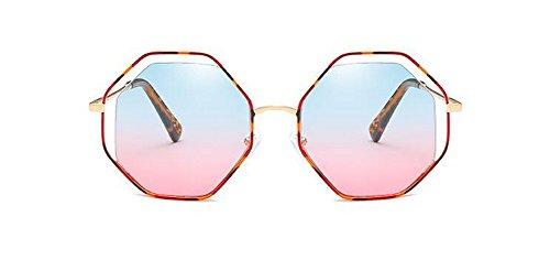 polarisées de inspirées cercle Poudre rond vintage métallique style Bleue Lennon retro lunettes soleil du en EdgZERqw