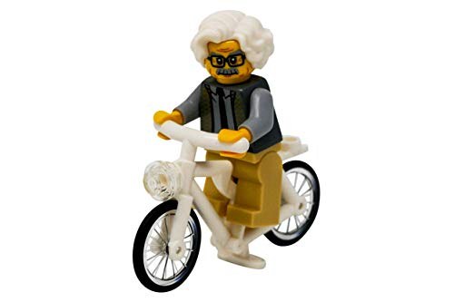 Albert Einstein Photograph - LEGO Albert Einstein Riding a Bike - Custom Famous Scientist on a Bicycle Minifigure