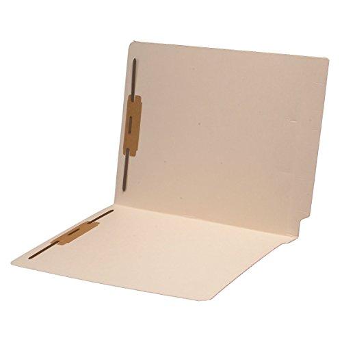 Folder Full Reinforced Tab Cut (14 pt Manila Folders, Full Cut 2-Ply End Tab, Letter Size, Fastener Pos #1 & #3 (Box of 50))