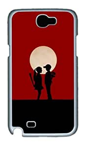 Boy Girl Love Story Custom Designer Samsung Galaxy Note 2/Note II / N7100 Case Cover - Polycarbonate - White