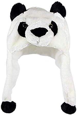Plush Kids Boy//Girl Warm Faux Fur Animal Hat with Soft Fleece Lining