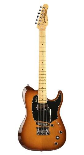 Godin Guitars 038121 Electric Session Custom TriplePlay Guitar, Lightburst High Gloss Maple Neck