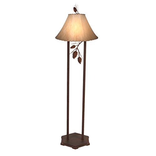 Steel Partners Lighting Floor Lamp, Ponderosa Pine