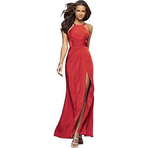 Faviana Women's Faille Satin Halter 7904 Red 2