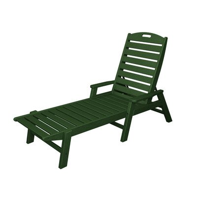 Nautical Chaise Lounge Finish: Hunter Green